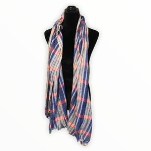 Maurices plaid scarf pink and blue